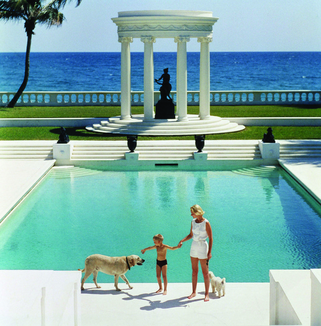 , 'The Good Life, 1955: C.Z. Guest and her son Alexander and dog at the pool at their home Villa Artemis in Palm Beach, Florida,' 1955, Staley-Wise Gallery