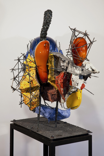 Raymon Elozua, 'R&D III RE-10-1b', 2014, Sculpture, Ceramic, glaze, steel & glass, Ferrin Contemporary