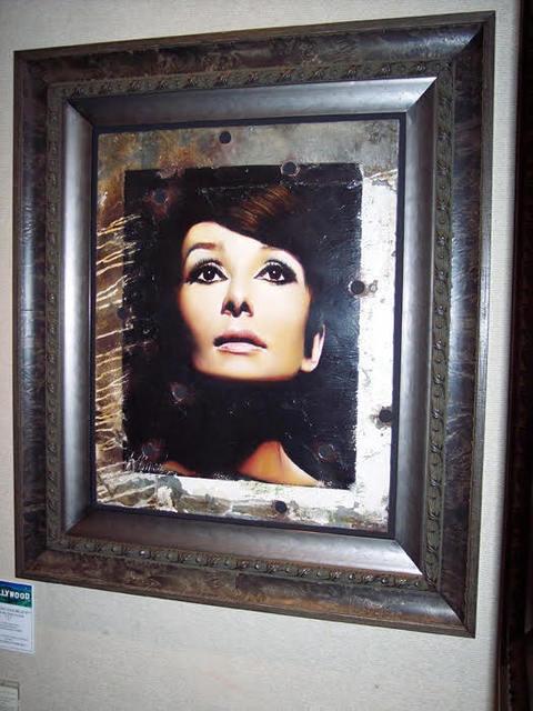 Bill Mack, 'Bill Mack Sophisticate Beauty—Audrey Hepburn Original Hollywood Sign Mixed Media Unique Print Contemporary Art ', 1980-2010, Modern Artifact