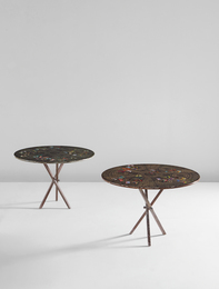 "Pair of ""Farfalle"" side tables"