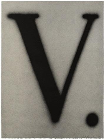 Ed Ruscha, 'V.', 1989, Mark Moore Fine Art
