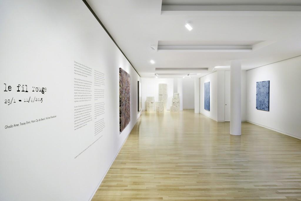 Le fil rouge (exhibition view), 2015 Courtesy Espace Louis Vuitton München