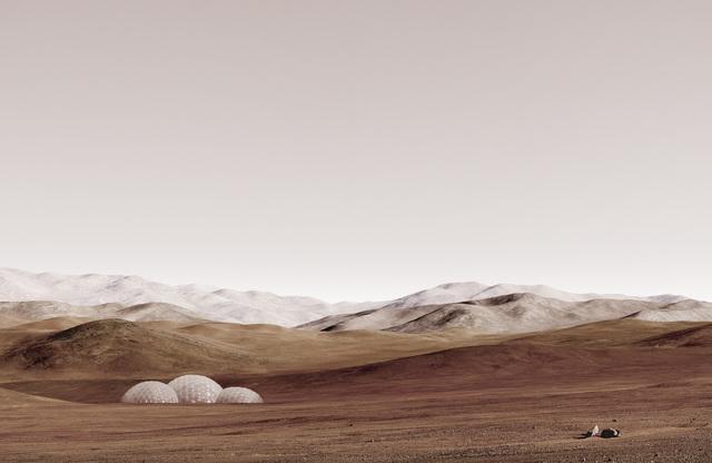 , 'Sands of Mars,' 2014, Bank/ Mabsociety
