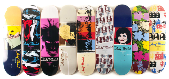 Set of Nine Skateboards
