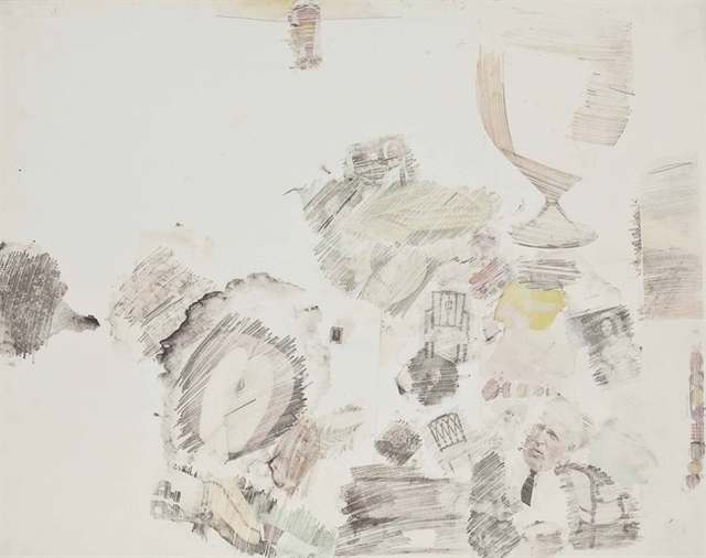 Robert Rauschenberg, 'Drawing Room', Solvent transfer, graphite, watercolor and gouache on paper, Christie's