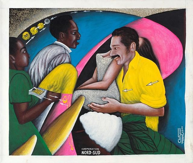 Chéri Samba, 'Coperation Nord-Sud', 1990, Painting, Acrylic on anvas, Finarte