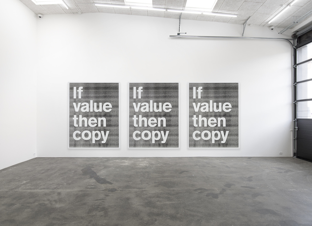 , 'If value then copy,' 2017, Nils Stærk
