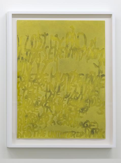 , 'I Lost my Pad (H.M.) ,' 2017, Galerie Hugues Charbonneau