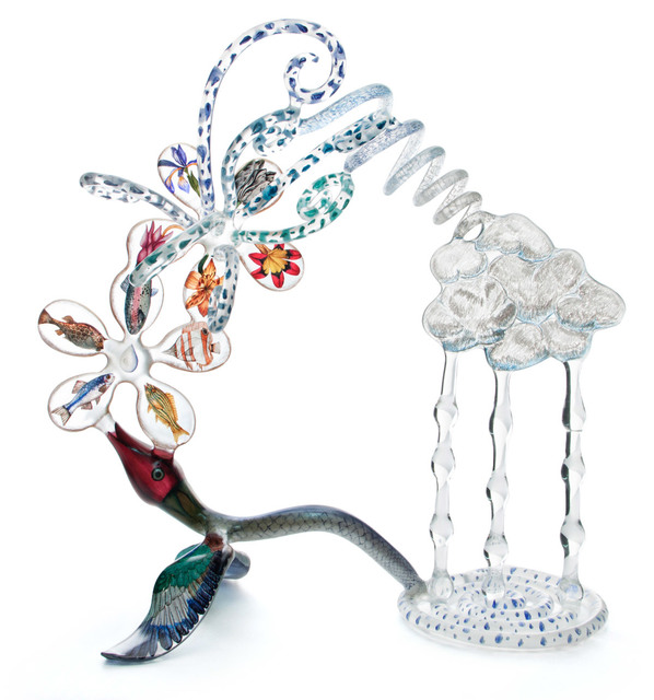 Ginny Ruffner, 'AES: HOW RAIN GETS IN CLOUDS', 2013, Sculpture, Flameworked glass, Traver Gallery