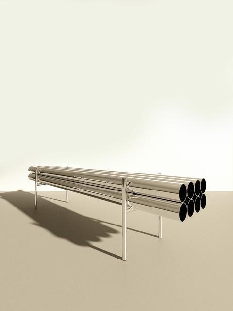 , 'A. Long Bench,' 2016-2018, Tile Blush
