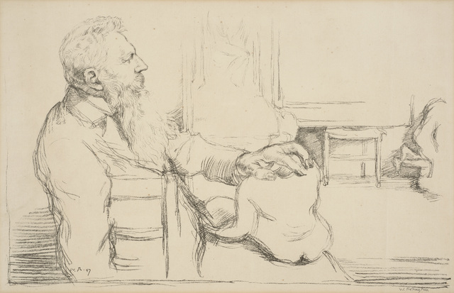 , 'Portrait of Auguste Rodin,' 1897, Ben Uri Gallery and Museum