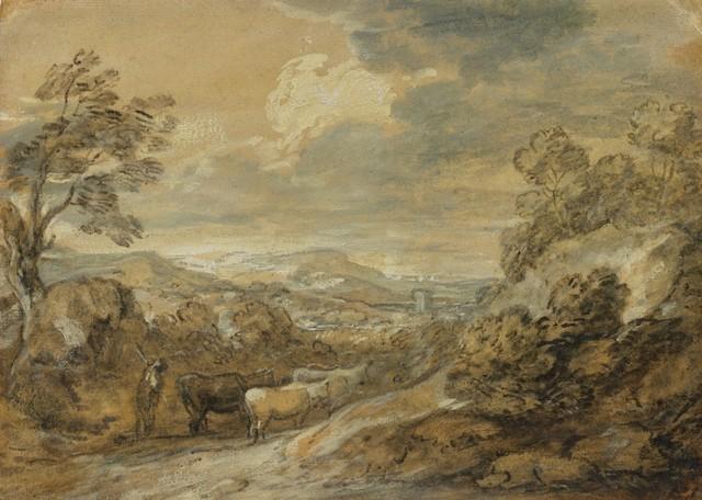 , 'Herdsman and Cattle,' 1770-1780, Clark Art Institute