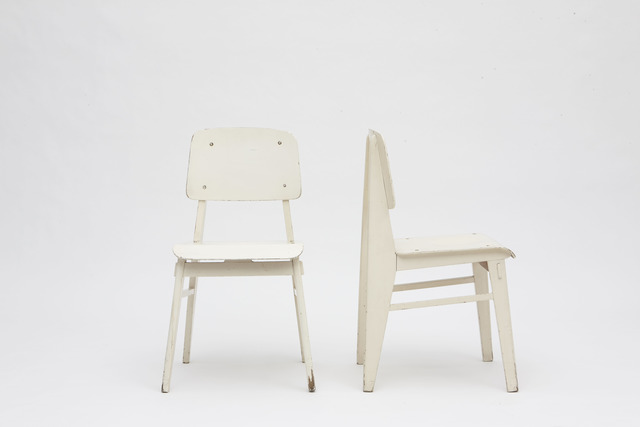 , 'Pair of white standard chairs,' 1950, Magen H Gallery