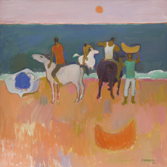 , 'Men Washing Mules on the Beach, Cefalu,' 1992, The Scottish Gallery