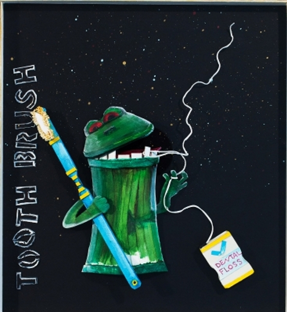 Katharine Owens, 'Fredrick the Trash Can Frog ', 2012, Zenith Gallery