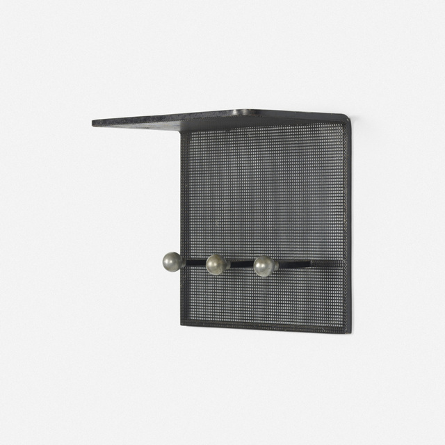Mathieu Matégot, 'wall-mounted coatrack', c. 1965, Wright