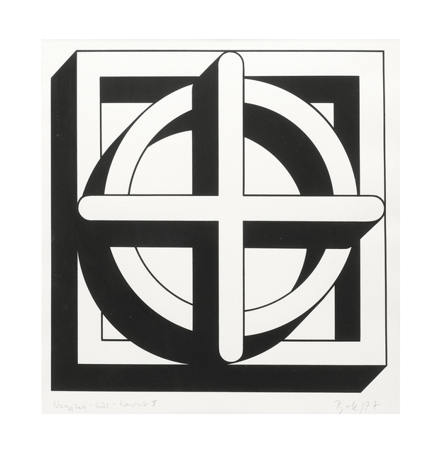 Imre Bak, 'Square-Circle-Cross II', 1977, The Mayor Gallery