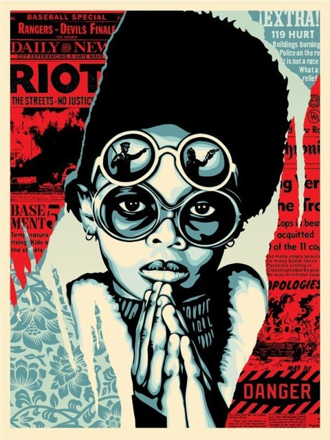 Shepard Fairey (OBEY), 'Late Hour Riot', 2017, AYNAC Gallery