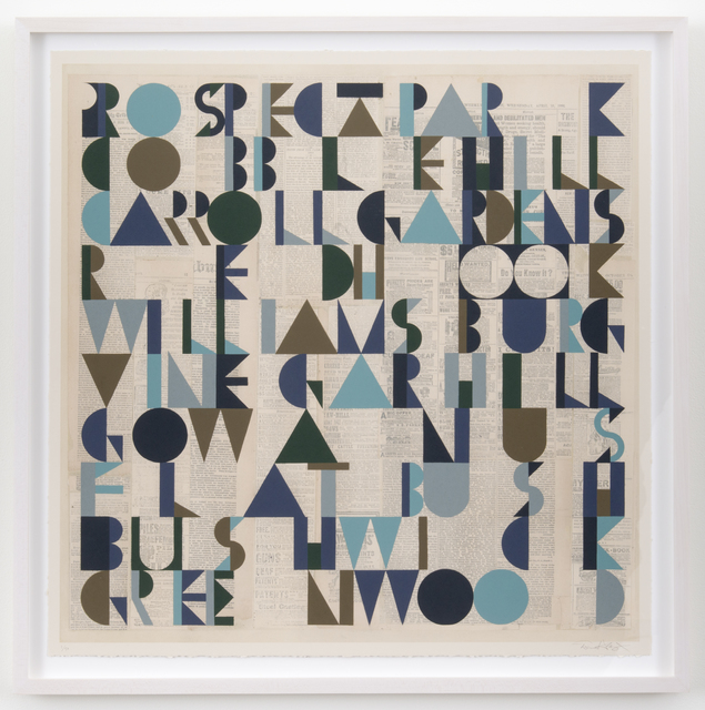 , 'Brooklyn Ten print,' 2015, Joshua Liner Gallery