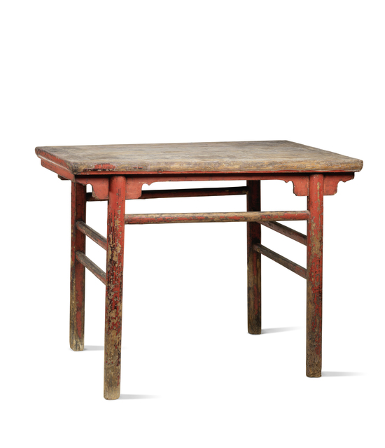 , 'A red lacquered softwood rectangular table,' China: Shanxi Province-17th century, Rasti Chinese Art