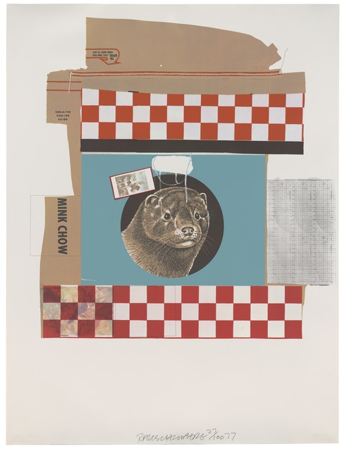 Robert Rauschenberg, 'Mink Chow (Chow Bags)', 1977, Print, Screen print and graphite with plastic thread, San Francisco Museum of Modern Art (SFMOMA)