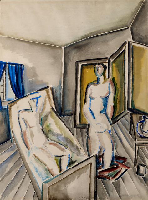 Ossip Zadkine, 'COUPLE DANS UNE CHAMBRE', 1919, Galerie des Modernes
