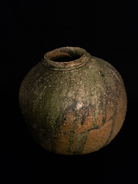 , 'Round mid-size jar with natural ash glaze,' 1995, Kamiya Art