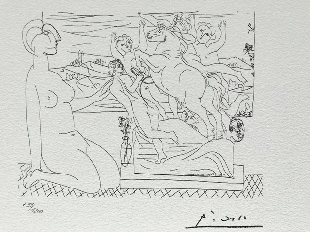 Pablo Picasso, 'Suite Vollard (Planche LXVI)', 1973, ByNewArt