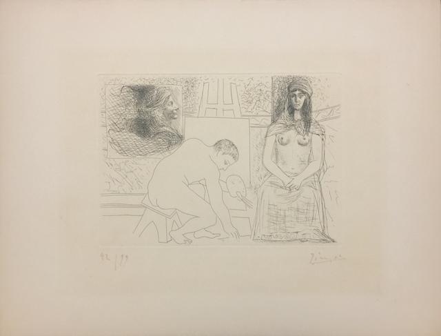 Pablo Picasso, 'Peintre Ramassant Son Pinceau', 1927, Wallector