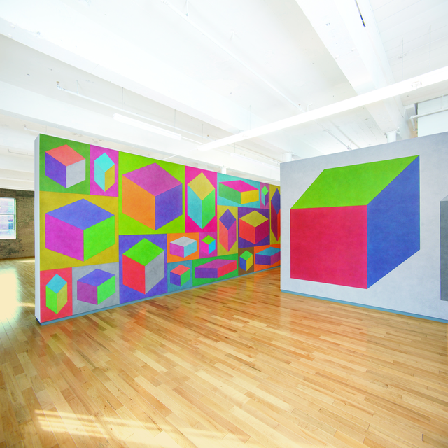 Sol LeWitt, 'Wall Drawings #766 and #415 D ', 1994, Color ink wash, MASS MoCA