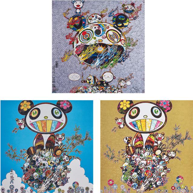 Takashi Murakami, 'Chaos; Panda Family- Happiness; and Panda Family', 2013-16, Phillips