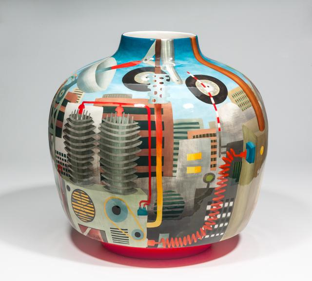 John Newdigate, 'The Machine Behind Us', 2019-2020, Design/Decorative Art, Hand Painted, Glazed Porcelain, EBONY/CURATED