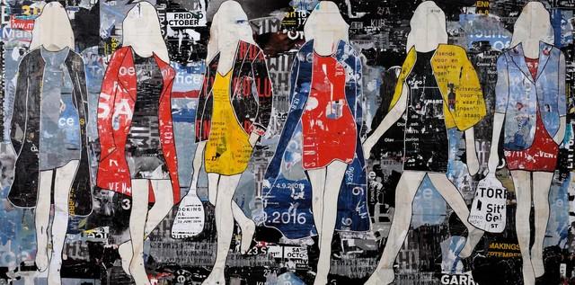 , 'Billboard Walking Girls,' 2016, Caldwell Snyder Gallery