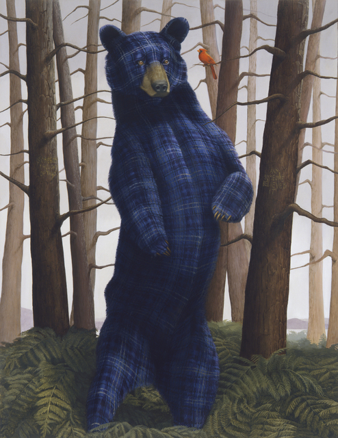 , 'Sincerity and Empathy (Black Bear and Cardinal),' 2014, Petzel Gallery
