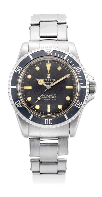 Rolex, 'A fine, very early and extremely rare stainless steel wristwatch with center seconds and bracelet, retailed by Serpico Y Laino', Circa 1963, Phillips