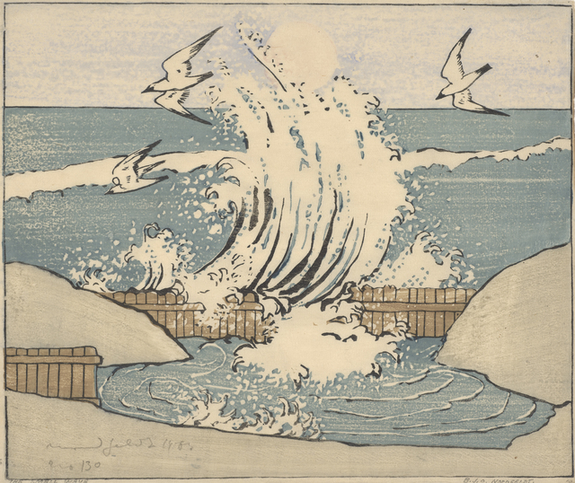 , 'The Wave, Moonrise,' 1906, de Young Museum