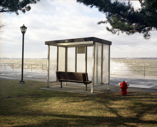 Lisa Kereszi, 'Bus Stop with Sea Spray, Governor's Island, NY', 2003, Yancey Richardson Gallery