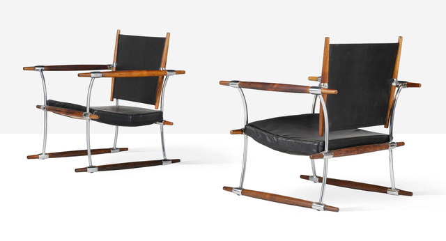 Jens H. Quistgaard, 'Pair of stokke lounge chairs', Circa 1960, Aguttes