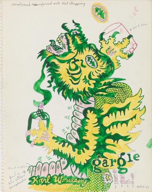 , 'Untitled (Study for Gargoyle Gargle Oil),' 1968, Derek Eller Gallery