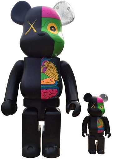 KAWS, 'Dissected Companion: Bearbrick 400% & 100% (Black)', 2010, Lougher Contemporary