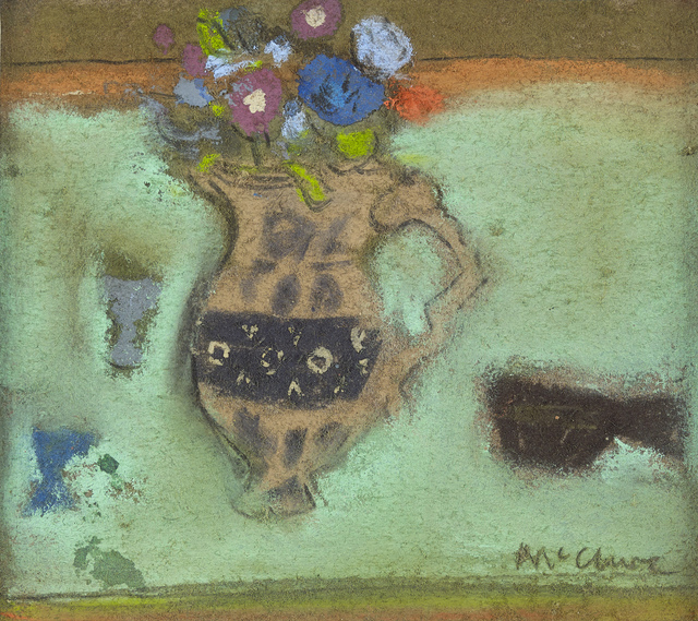 , 'Flowers on a Green Ground,' 1968, The Scottish Gallery