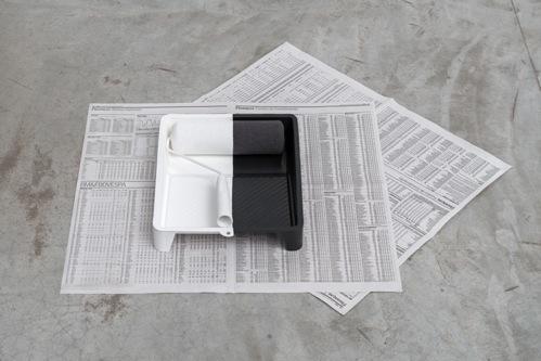 , 'Excedente [tray, roll, newspaper],' 2015, Galería Vermelho