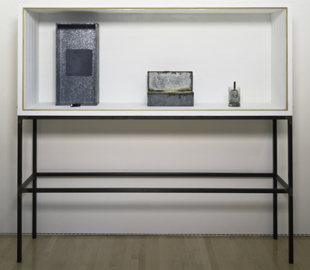 , 'Untitled (Vitrine with Four Objects/Plateau Central),' 1962-1983, San Francisco Museum of Modern Art (SFMOMA)