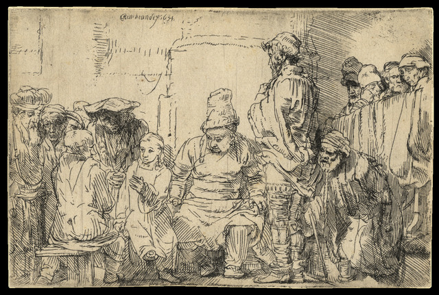 , 'Christ Seated Disputing with the Doctors,' 1654, C. G. Boerner