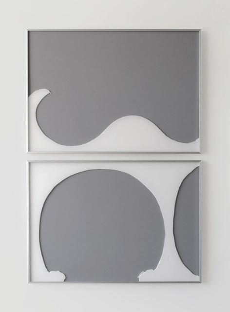 Alexander Heim, 'Unlikely Liaison No. 4', 2014, Installation, Glue behind Perspex, in 2 parts, Lullin + Ferrari