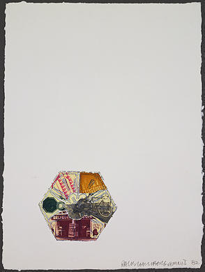 Robert Rauschenberg, '10,000' and Rising', 1982, Print, Color etching with embossing, Vertu Fine Art