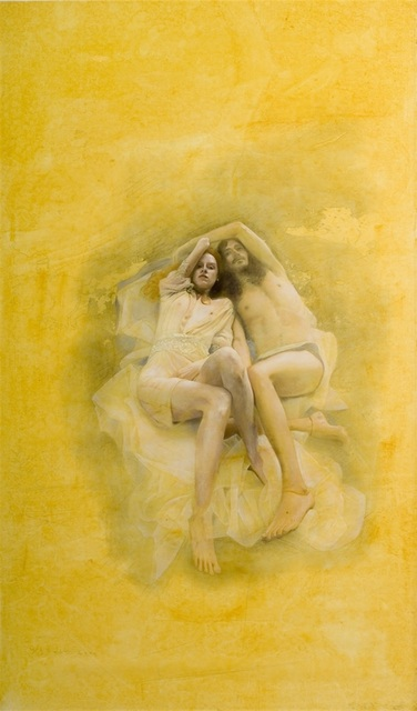 Yigal Ozeri, 'Untitled ', ca. 2008, Painting, Oil on Korean paper, Corridor Contemporary