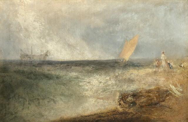 , 'View off Margate, Evening,' ca. 1840, Clark Art Institute