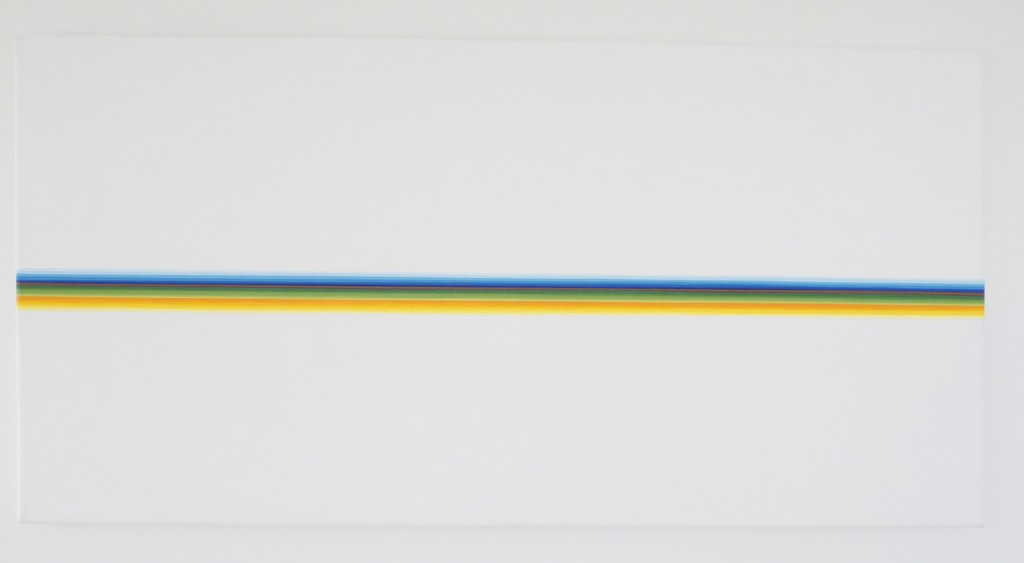 Marco Beria Untitled 32 x 64 Acrylic on canvas 2016
