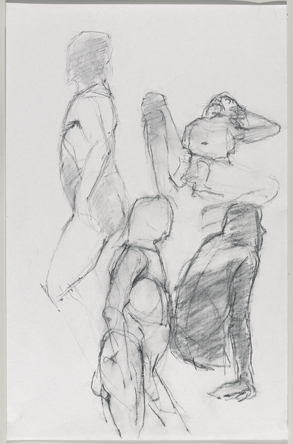 Jeannette Farrow, 'Untitled (Four poses: Standing, view from left; lying; standing, view from right; and sitting)', 2016, Brooklyn Museum